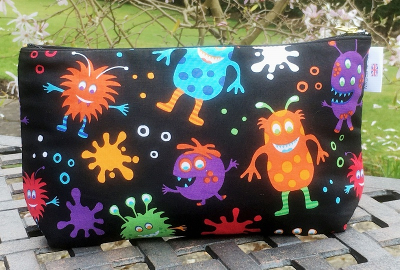 Kids Cotton Wash Bag - Aliens