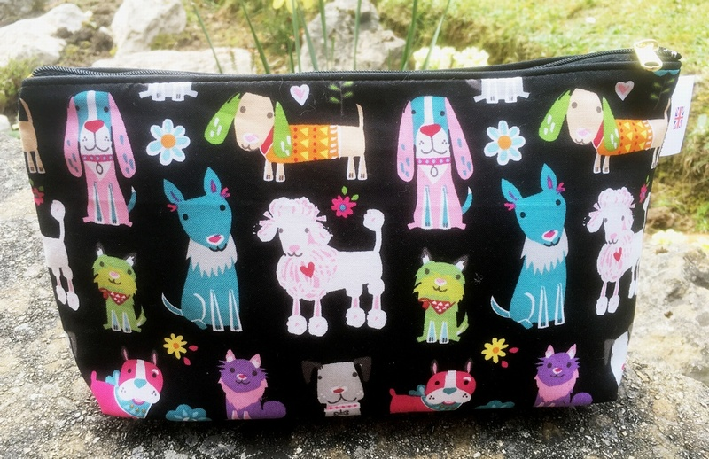Kids Cotton Wash Bag - Cute Dogs