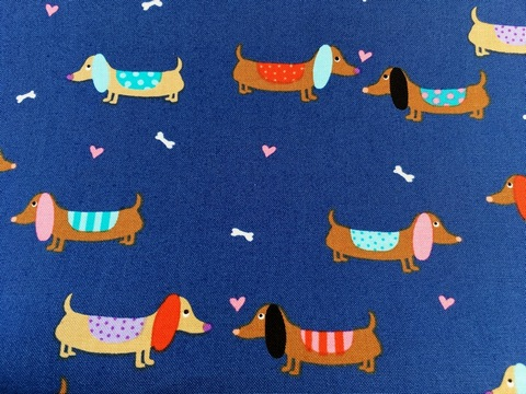 Kids Cotton Wash Bag - Dachshunds