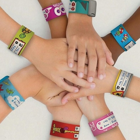 Infoband I.D. Travel Wrist Band for kids - Airplanes